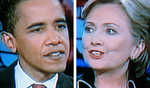 Barack and Hillary