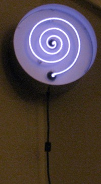 Purple Clock, as declared by Mimi & Beenie. Neon by Gwen Weimann.