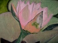 early phase of small lotus painting