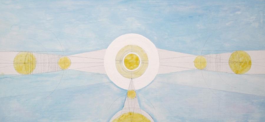 Sun diagram painting